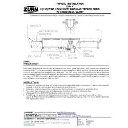 Free Drains Revit Download – Z664 Linear Trench Drain – BIMsmith Market
