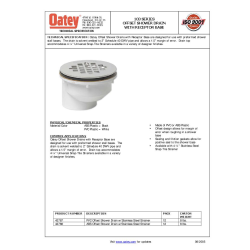 Free Drains Revit Download 103 Series Offset Shower Drain With