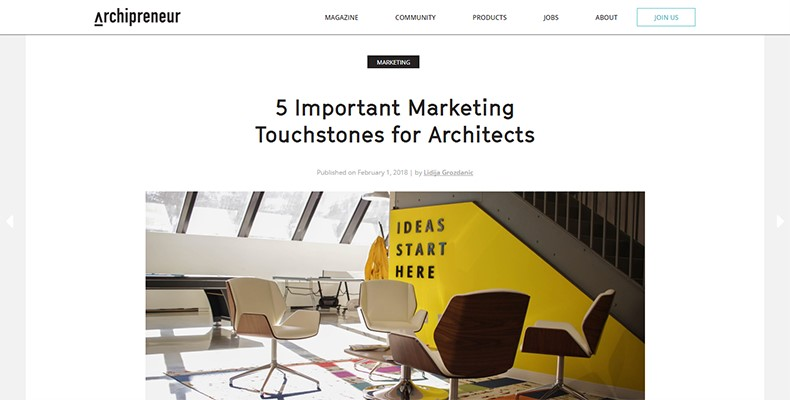 Archipreneur Marketing Email Newsletter Example