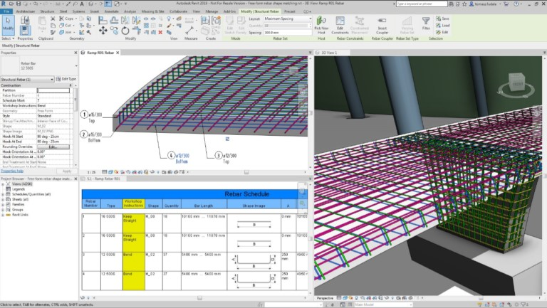 Revit 2019 Rebar Feature Improvements
