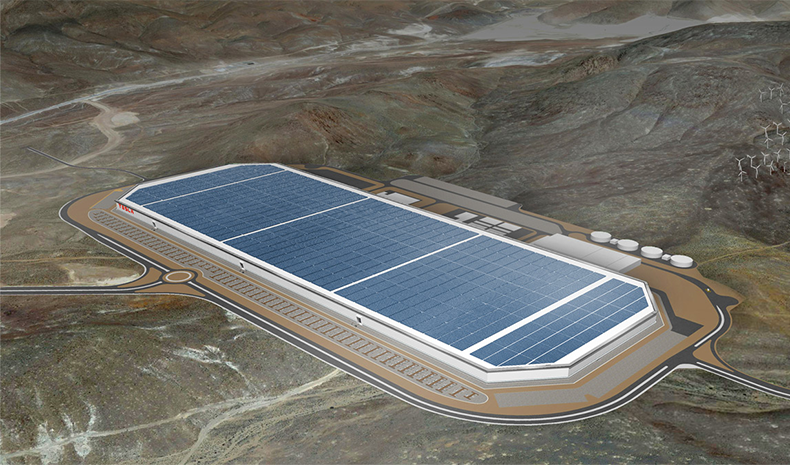Tesla Gigafactory 1 in Nevada