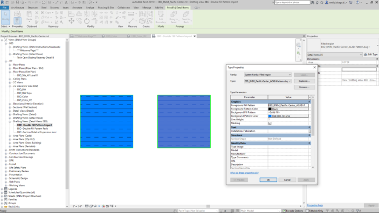 Revit 2019.1 Double Fill Pattern Import