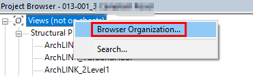 Revit Project Browser Organization