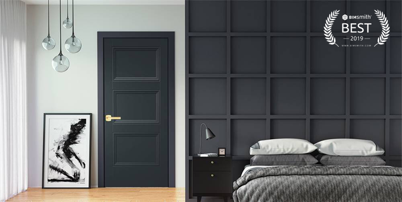 The Livingston Interior Molded Door by Masonite BIMsmith Best Award 2019