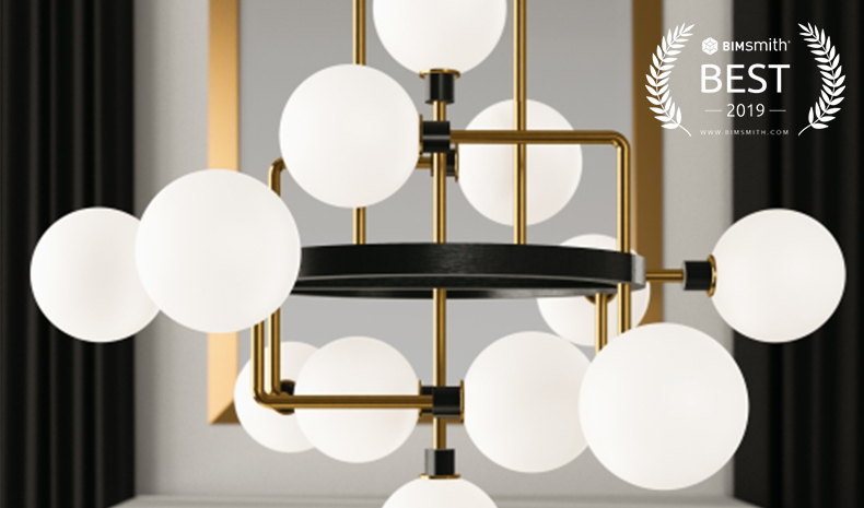 Viaggio by Tech Lighting BIMsmith Best Award 2019