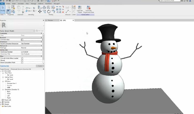 Revit Snowman