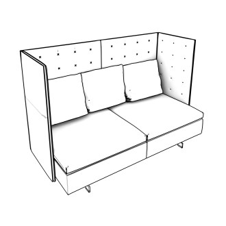 Free Seating Revit Download – GranTorino - Sofa - Two Seat