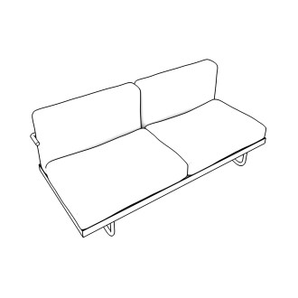 Free Seating Revit Download – LC3 - Sofa - Two Seat