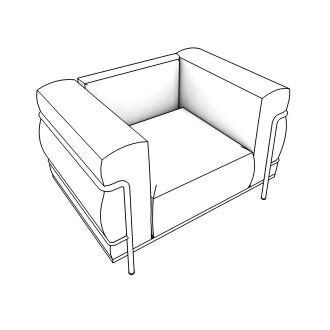 Free Seating Revit Download – LC3 - Lounge - Chair – BIMsmith Market