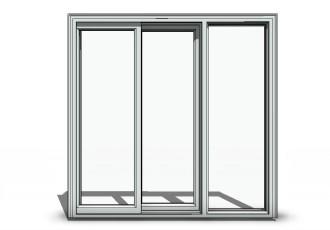 Free Sliding Door Revit Download – Sliding 3-Panel O-X-O