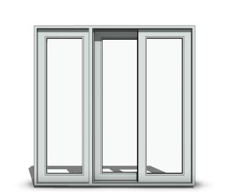 Free Sliding Door Revit Download – Sliding 3-Panel O-X-O Wide Stile