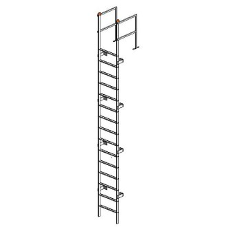 Free Stairs Revit Download – Tubular Fixed Ladder with Walk-Thru