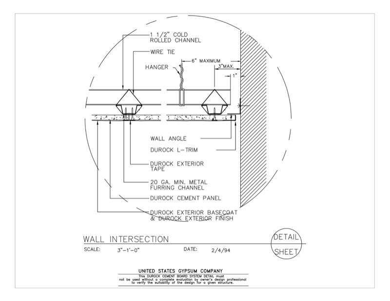 Design Details Details Page Durock Suspended Ceiling
