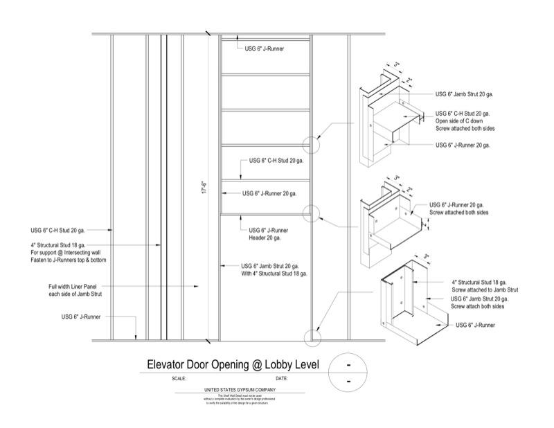 Design Details Details Page Shaft Wall Lobby Elevator